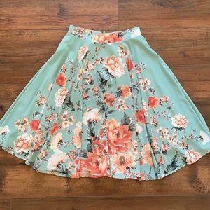 Ro & De Floral Print Skirt